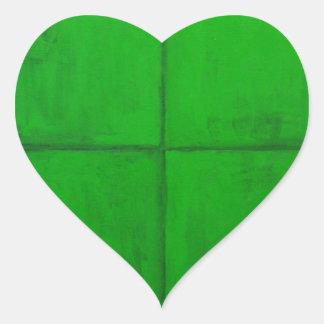 Natural Green Coordinate System (green minimalism) Heart Sticker