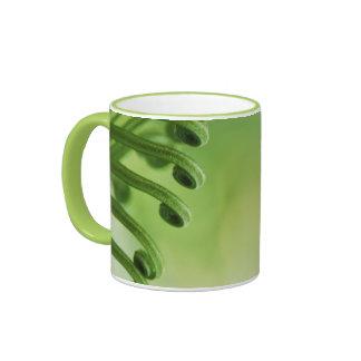 Natural, Green Curly Leaf Ringer Mug