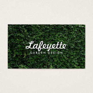 Natural Green Leaf Wall Eco-Friendly Garden Design Business Card
