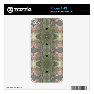 Natural Green Rose  Camo Effect Abstract iPhone 4 Skins