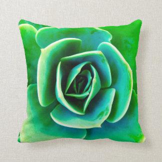 Natural Green Succulent Plant Calming Throw Pillow