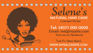 African american hair stylist gifts on zazzle natural hair african american salon business card colourmoves