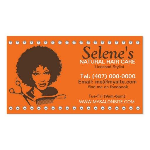 African American Hair Salon Business Cards