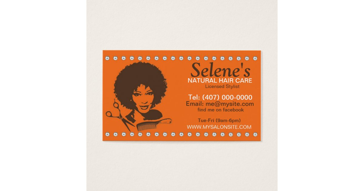 Natural Hair African American Salon Business Card | Zazzle.com