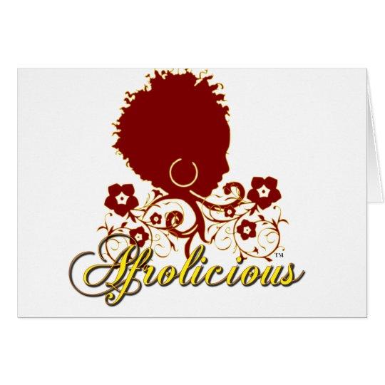 Natural Hair:Afrolicious Card