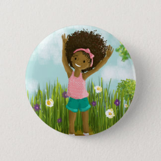 Natural Hair Button