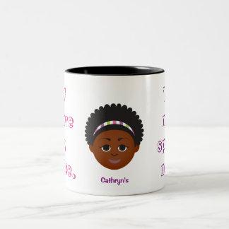 Natural Hair Gift Mugs! Customize with Name Two-Tone Coffee Mug