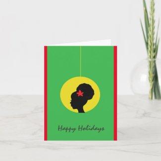 Natural Hair Holiday Card