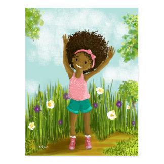 Natural Hair Postcard