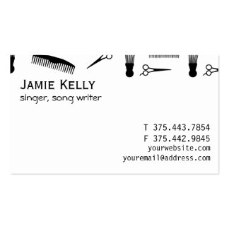Natural hair red black business card