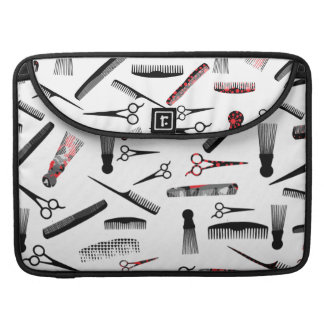 Natural hair red black sleeve for MacBook pro