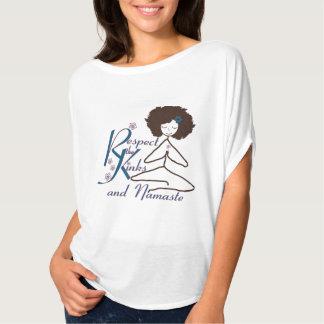 Natural Hair Respect the Kinks Namaste yoga shirt. T-shirt