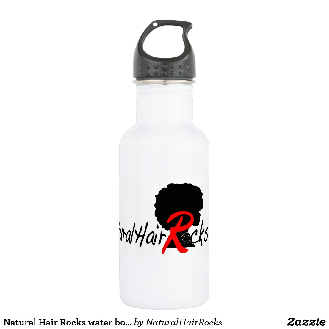 Natural Hair Rocks water bottle