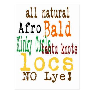 Natural Hair T shirt Postcard