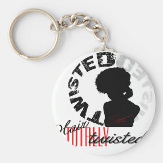 Natural Hair: Totally Twisted Basic Round Button Keychain