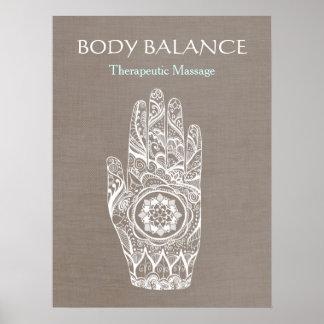 Natural Healer Henna Hand Lotus Poster