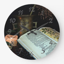 Natural Healing Large Clock