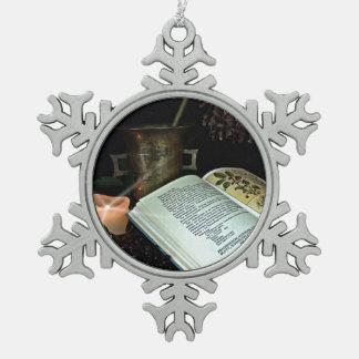 Natural Healing Pewter Snowflake Ornament