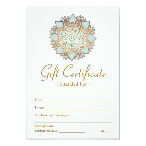 Natural Health Spa Lotus Flower Gift Certificate 3.5x5 Paper Invitation Card
