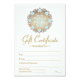 Natural Health Spa Lotus Flower Gift Certificate Personalized Invitation
