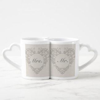 Natural HeartyChic Coffee Mug Set