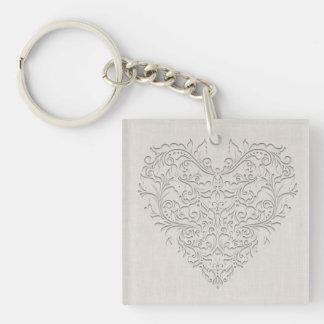 Natural HeartyChic Keychain