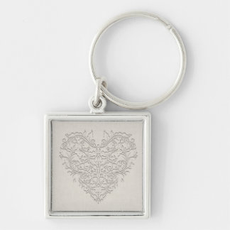 Natural HeartyChic Key Chain