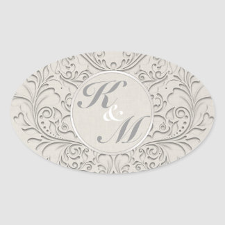 Natural HeartyChic Oval Sticker