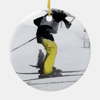 Natural High   - Ski Jump Landing Ceramic Ornament