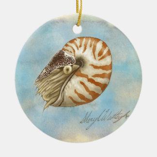 Natural History Nautilus Ornament