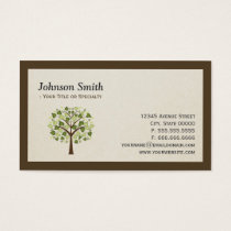Natural Holistic Healer - Naturopathic Tree Logo Business Card