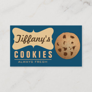 Homemade cookies business cards zazzle natural homebaked gourmet handmade cookies business card colourmoves