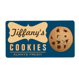 Natural | Homebaked | Gourmet | Handmade Cookies Label