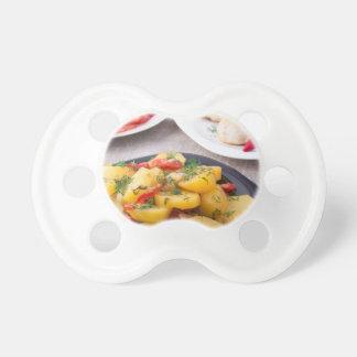 Natural homemade food closeup pacifier