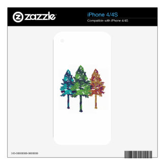 Natural Hues Decal For iPhone 4