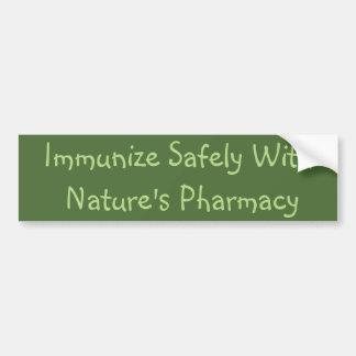 Natural Immunization Bumper Sticker Car Bumper Sticker