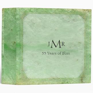 Natural Jade 35th Wedding Anniversary Binder