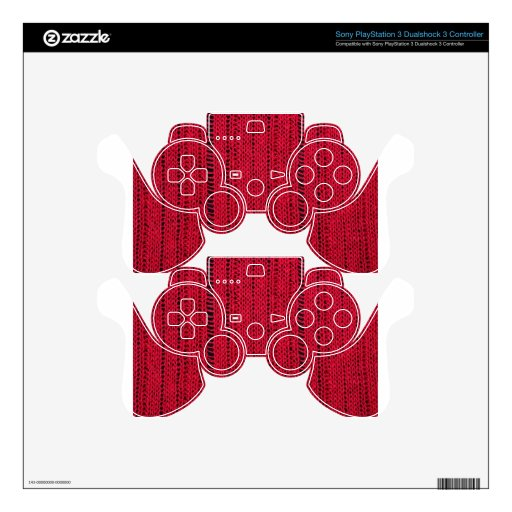 Natural Knit PS3 Controller Decal