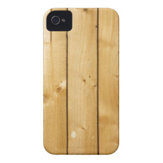 Natural knotted light blond wood panel photo iPhone 4 cover