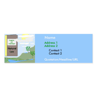 Natural Law Personal Card Double-Sided Mini Business Cards (Pack Of 20)