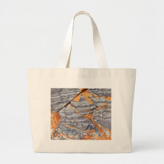 Natural layers of agate in a sandstone large tote bag