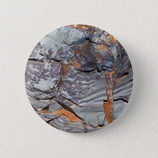 Natural layers of agate in a sandstone pinback button
