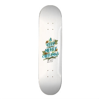Natural letters christmas tree skateboard deck