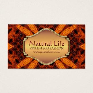 Natural Life Eco Fashion Design Business Card