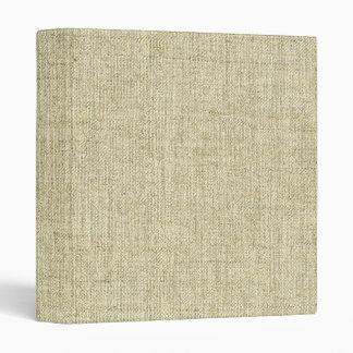 Natural Linen Canvas Texture 3 Ring Binders