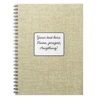 Natural Linen Canvas Texture Notebook