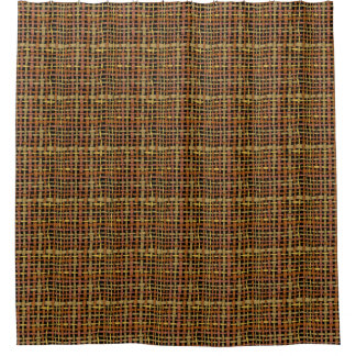 Natural Look Woven Strings Red Shower Curtain
