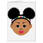 Natural Me Collection (Afro Puff Girl) Greeting Card