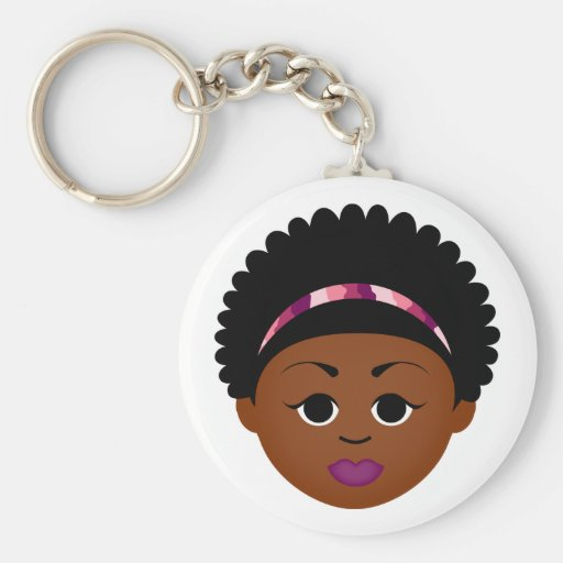 Natural Me Keychain (Afro Girl)