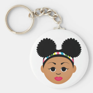 Natural Me Keychain (Afro Puffs)